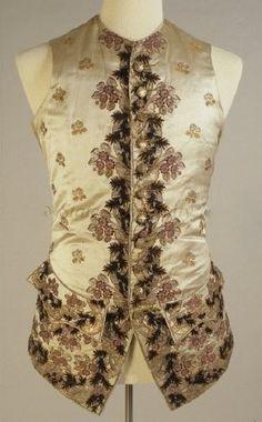 Waistcoat 1748, British, Made of silk