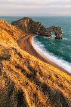 bluepueblo:Coastal View, Dorset, England photo via jobs enchantedengland: my my my I love luthienthye And I believe this is Durdle Door. Well I am certain it is Durdle Door, which is made of purbeck limestone, and I know you wanted to know that part. Places Around The World, Oh The Places You'll Go, Places To Travel, Places To Visit, Around The Worlds, Travel Destinations, Vacation Travel, Beautiful World, Beautiful Places