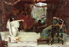 The Athenaeum - Esther Denouncing Haman to King Ahasuerus (Ernest Normand - )