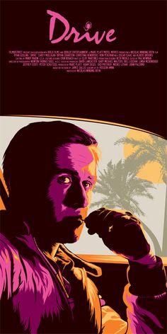 Drive alternative movie poster designed by Dan Sherratt