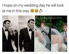funny wedding day memes of 2016 on sizzle dogs Cute Wedding Ideas, Wedding Goals, Perfect Wedding, Wedding Planning, Dream Wedding, Wedding Day, Wedding Stuff, When I Get Married, I Got Married