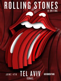 The Rolling Stones Tel Aviv Gig Poster | 14 on Fire #stonesonfire