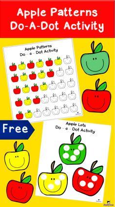Preschool Apple Activities, Motor Skills Activities, Free Preschool, Kindergarten Activities, Toddler Preschool, Preschool Activities, Preschool Apples, Preschool Class, Alphabet Activities