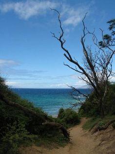 Top of trail separating Big Beach from Little Beach. Maui, Hawaii