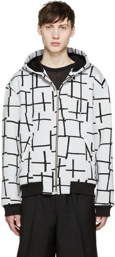 MCQ ALEXANDER MCQUEEN Grey Harrington Hoodie. #mcqalexandermcqueen #cloth #hoodie