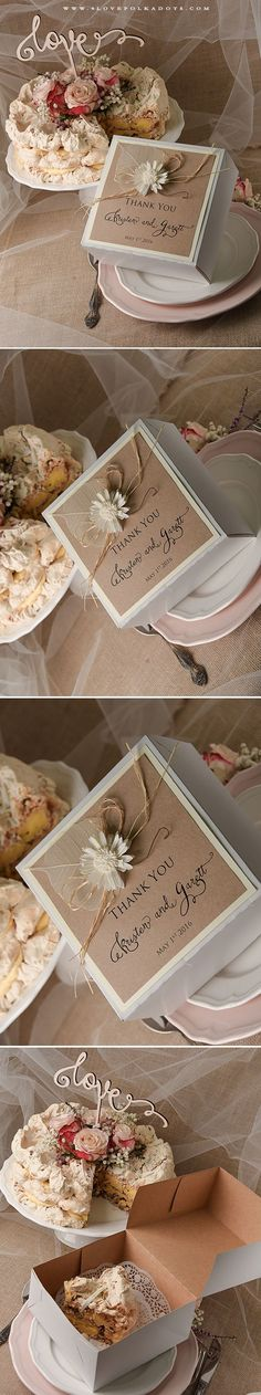 Wedding Cake Box - say Thank You to Your Guests ! #weddingsideas #thankyou #guestsgifts #summer #gardenwedding