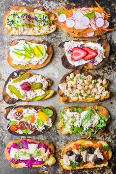Wild Caught Tuna Crostini are a super healthy and colorful appetizer or light meal --- just add wine and friends and you've got the makings for the perfect summer gathering. Healthy Appetizers, Appetizers For Party, Appetizer Recipes, Healthy Snacks, Healthy Recipes, Quick Recipes, Healthy Eating, Canned Fish Recipes, Tuna Recipes