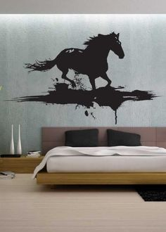 "Modern Horse - Vinyl Wall Decals Murals Stickers Art Graphic - 40""H x70""W - by üBer Decals by üBer Decals, http://www.amazon.com/dp/B00612H5D6/ref=cm_sw_r_pi_dp_9Errqb12BVD91"