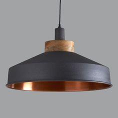 Cosmos Graphite And Copper Pendant Light - lighting