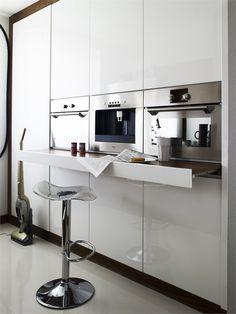 Mooie oplossing keuken en inbouwapparatuur #design
