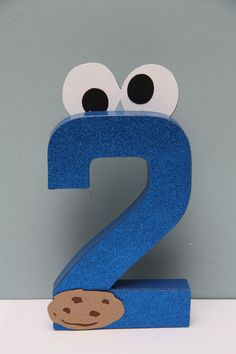 8 inch Paper Mache NumberCookie Monster by CraftingCrew on Etsy, $10.00