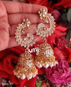 Diamond Earrings, Indian, Traditional, Stuff To Buy, Jewelry, Fashion, Moda, Jewlery, Jewerly