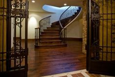 A grand set of stairs Interior Stairs, Interior And Exterior, House Stairs, Wood Stairs, Basement Stairs, Girl House, My House, Modern Mansion, Stairway To Heaven
