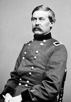 John Buford, Jr. (March 4, 1826 – December 16, 1863) was a Union cavalry officer during the American Civil War. A West Point regular, born in the divided border state of Kentucky, he had many Southern connections, but opted to stay in the Union Army. His first command was a cavalry brigade under Maj. Gen. John Pope, & he distinguished himself at Second Bull Run, where he was wounded, & also saw action at Antietam & Chancellorsville. Buford was born in Woodford County, Kentucky