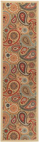 """Ottohome Collection Beige Contemporary Paisley Design Modern Runner Rug With Non-Skid (Non-Slip) Rubber Backing (20""""X59"""") Kitchen and Bathroom Runner Rug Ottomanson http://www.amazon.com/dp/B00EP04UZW/ref=cm_sw_r_pi_dp_KY7Zub0QD7F6Z"""