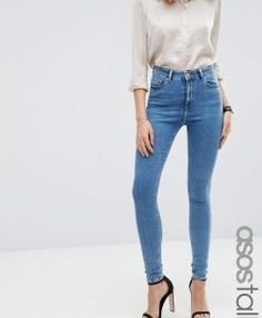 Blessed with super model legs? We have huge selection of jeans for tall women. Whether you are looking for skinny, jeggings, straight; Skinny Fit Jeans, All Jeans, Love Jeans, Women's Jeans, Jeans For Tall Women, Tall Men, Model Legs, Tall Clothing, Dressing
