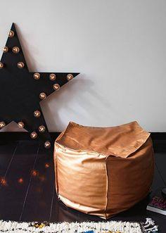 DIY leather seating http://decor8blog.com/2013/01/18/stylist-peter-fehrentz/