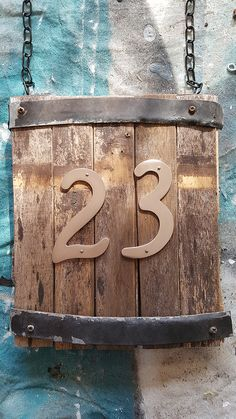 Rustic House Number Sign
