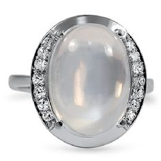 THE LUMINA RING - Retro era Moonstone Ring