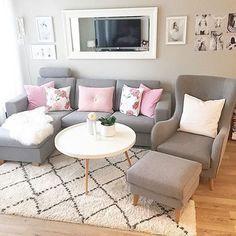 Wohnzimmer in Grau, Rosa und Pink einrichten.   Wohnen   Pinterest ...