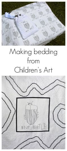 Making a Quilt out of Children's Art from Fun at Home with Kids