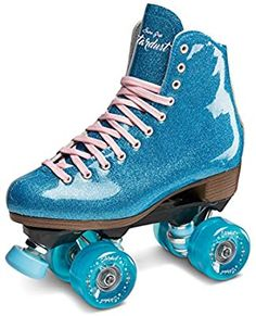 Birthday Gifts for Teenagers Best Christmas gifts for tweens and teens – Blue Glitter Stardust Roller Skate Roller Skate Shoes, Quad Roller Skates, Roller Disco, Roller Skating, Blue Sparkles, Blue Glitter, Glitter Nikes, Glitter Glue, Glitter Cardstock