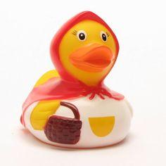 #bebe Patito de goma «Caperucita roja»