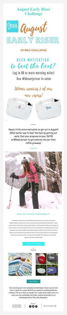 August Early Riser Challenge