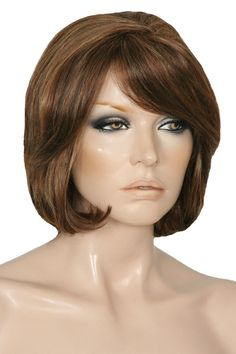 Catalina by Sepia is a 100% human hair short wig with lovely long layering framing the face, the fringe can be worn brushed to the side or trimmed and worn straight. The Catalina has a centre part, but it can be moved slightly to an off centre part and features a Capless Wefted Cap making it light, breathable and comfortable to wear. The versatility of human hair also gives you the option of styling with heat. Colour P4/27/30 - Strawberry Blonde mixed with Dark Brown & Dark Auburn