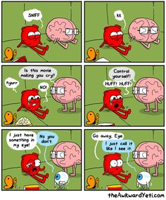 17 comics that illustrate the tricky relationship between your heart and brain. relationship 17 comics that illustrate the tricky relationship between your heart and brain. Funny Cartoons, Funny Comics, Funny Jokes, Hilarious, Just Let It Go, Make You Cry, Heart And Brain Comic, The Awkward Yeti, Akward Yeti