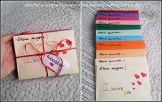 cartão para o namorado Bff, Boyfriend Crafts, Romantic Gifts, Valentines Diy, Diy Videos, Special Day, Gifts For Him, Diy And Crafts, Presents