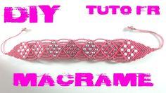 DIY -  Tuto Bracelet Rose en Macramé