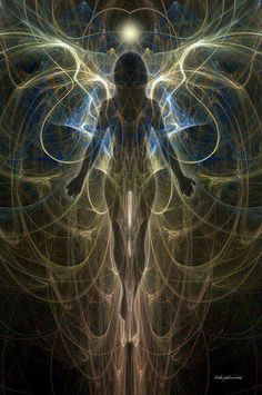 Aaron: The idea of sensing auras is amazing. Being able to see the flow of energy moving in someone else's body. It's an art. Image Zen, Art Visionnaire, Psy Art, Visionary Art, Angel Art, Psychedelic Art, Sacred Geometry, Mystic, Fantasy Art