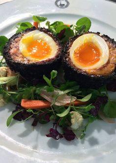 Stornoway black pudding Scotch hen's egg