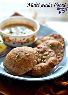 Healthy Multi grain poori – The Veggie Indian Diabetic Recipes, Vegetarian Recipes, Cooking Recipes, Spicy Recipes, Best Indian Recipes, Unique Recipes, Protein Breakfast, Breakfast Recipes, Dinner Recipes