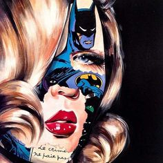 An Artist Created A Stunning Mashup Portraits Of Superheroes And Girls Sandro, Sandra Chevrier, Hair Expo, Portraits, Traditional Paintings, Canadian Artists, Up Girl, Popular Culture, Urban Art
