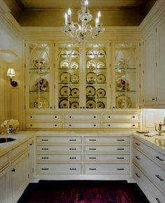 drawers for silver and overflow tools from kitchen
