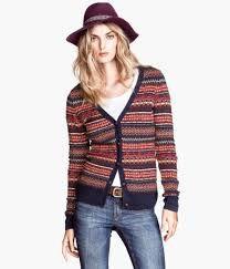 sweter w norweskie wzory