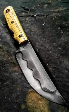 Half Life Knives Tactical Kwaikan made from Aldo's W2, with spalted tamarind scales...
