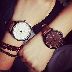 circular relógio cinto de quartzo moda do casal (cores sortidas) – BRL R$ 35,59