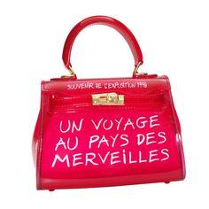 Un Voyage Jelly Color Transparent PVC Handbag | Clear Handbags, Handbags On Sale, Zip Wallet, Zip Around Wallet, Leather Handle, Soft Leather, Transparent Bag, Vera Bradley Tote, Clear Bags