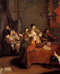 TICMUSart: The Concert - Pietro Longhi (1741) (I.M.)