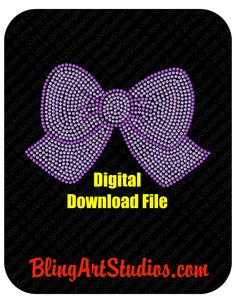 DIGITAL FILE for Bow Design, Bow Rhinestone Digital Download, Bow SVG Downloadable File, svg Rhinestone File, Electronic File by BlingArtStudios on Etsy