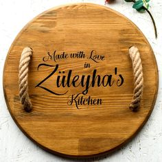 Feast & Furious | Personalized Wooden Serving Tray with Rope Handles, Rustic, Gift, Name, Engraved, Decorative, Board, Platter, Kitchen Snack Platter, Snack Bowls, Wooden Serving Trays, Serving Board, Wood Slices, Handmade Wooden, Bamboo Cutting Board, Safe Food, Natural Wood