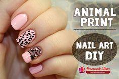 Animal print – Nail art DIY – Tutorial paso a paso | Decoración de Uñas - Manicura y Nail Art