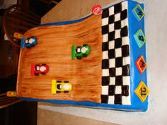 This cake was from February when our Boy Scout Troop had their Pinewood. Boy Scout Troop, Cub Scouts, Pinewood Derby Cars, Scout Activities, Dessert Decoration, Little Boys, Cubs, Scouting, Cake Ideas