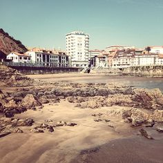 One of the beaches of Candás called La Pregona, the spring of 2014. This is Asturias, Spain.
