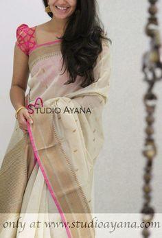Cotton Saree Blouse Designs, Wedding Saree Blouse Designs, Fancy Blouse Designs, Set Saree, Saree Dress, Trendy Sarees, Fancy Sarees, Saree Color Combinations, Cutwork Saree