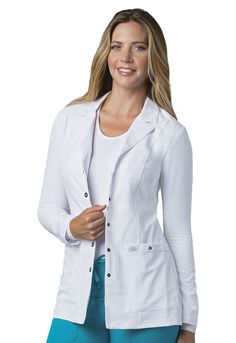 Women's Wrinkle Resistant Outfits from Scrubs and More if your looking for lab coats go to www.scrubsnmoreofaz use promo code fo off. Doctor White Coat, Doctor Coat, Landau Uniforms, Buy Scrubs, Lab Coats, Medical Uniforms, Different Fabrics, Mantel, Work Wear