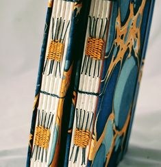 Journals and notebooks - Spine detail, Loving it, Natalie Handmade Journals, Notebooks, Flatware, Place Settings, Shun Cutlery, Notebook, Dinnerware, Table Place Settings